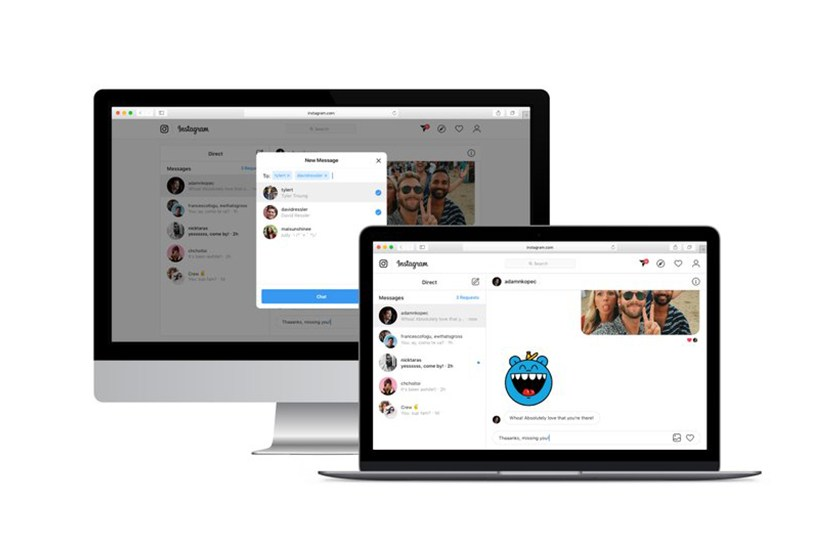 instagram direct message web browser feature